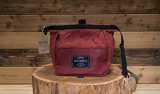 LIMITED EDITION   Waxed Canvas Chalk Bucket   OXBLOOD (Made in the USA)