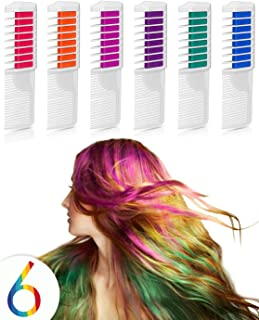 Maydear Temporary Hair Color Hair Dye Hair Chalk Comb with Bright Colors - Popular and Economy Pack (New Design)