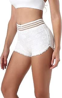 Zinmuwa Le Donne Boyshort Pantaloncini Corti Breve Leggings Lace