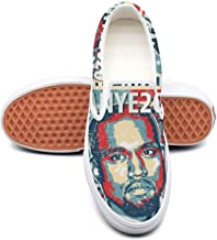 Women's Kanye-West- Canvas sneakers Wear-resistant flat cheap skate shoes