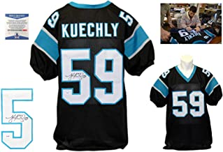 Luke Kuechly Signed Custom Jersey - Beckett Authentic - Blue