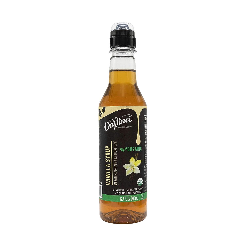 DaVinci Gourmet Organic Vanilla Syrup, Organic Vanilla, 12.7 Fl Ounce