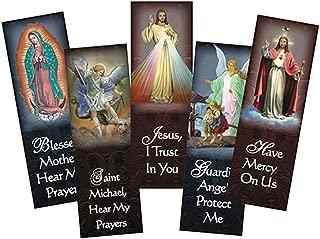 Assorted Catholic Devotional Prayer Bookmark, 6 Inch, Pack of 100