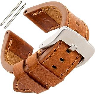 Gilden 20-26 مم رجالي سميك وثقيل رياضي من جلد العجل حزام ساعة TS62