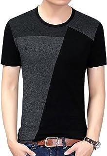 Yong Horse Men's Casual Short/Long Sleeve Crewneck Cotton T-Shirts