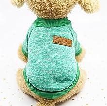 Cute Pet Costume Pet Supplies Classic Autumn Winter Sweater Pet Clothing Green L
