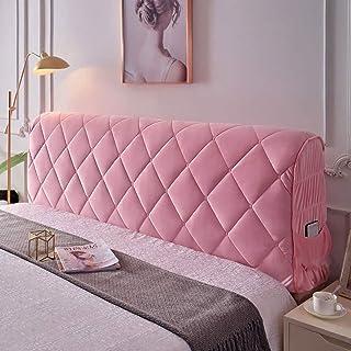 GEBIN Cubierta para Cabecero De Cama, Funda para Cabecero De Cama, A Prueba De Polvo, Protector De Cabeza De Cama, Color Sólido, Decoración De Dormitorio (Pink,120cm)