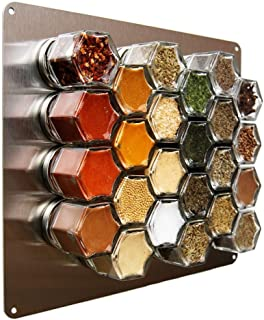Gneiss Spice Medium Stainless Wall Plate Base for Magnetic Spice Jars, 10x12 Inches (Jars Not Included)