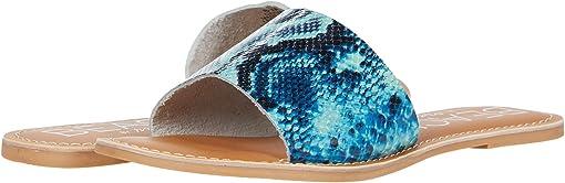 Blue Snake Leather