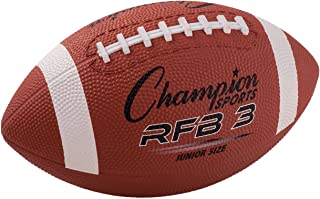 Champion Sports RFB3 Rubber Sports Ball, for Football, Junior Size, Brown (CSIRFB3)