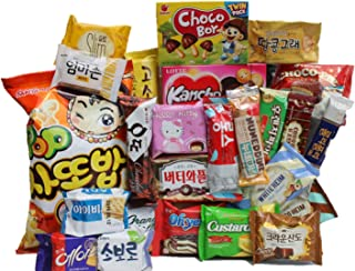 KOREAN PREMIUM SNACK BOX_Assorted Package Popular Deluxe Korean Brand Snacks and More! Perfect for GIFT | College Care Package | Gift Care Package (25 packs)