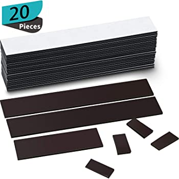 10 Pieces Magnetic Board Magnetic Strips with Adhesive Backing Magnetic Strips Adhesive Magnetic Strip for Wall Memo Board with Pushpins for School Office and Home