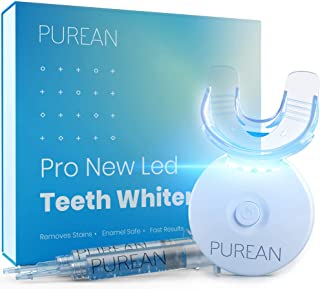 Sponsored Ad - Purean Teeth Whitening Kit with LED Light – 2 Syringes of 5ml Professional 35% Carbamide Peroxide Tooth Whi...