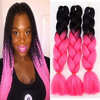3Pcs/Lot Ombre Kanekalon Braiding Hair Extensions 24
