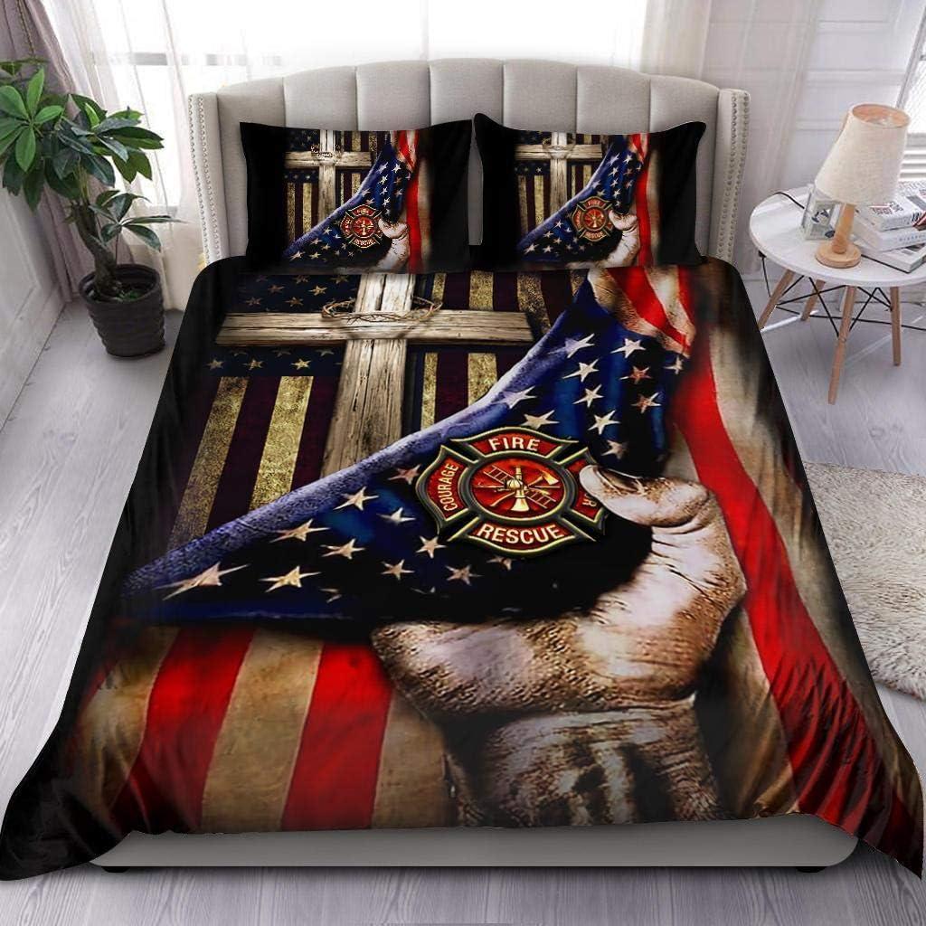 Jesus Christ Proud Max 80% OFF American Firefighter Set Max 79% OFF Ki Comforter Bedding