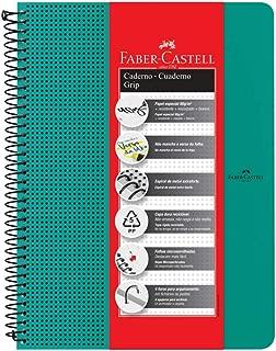 Caderno Grip Pautado 80Fls Verde Agua, Faber-Castell, CDNOFF/VD, Mista
