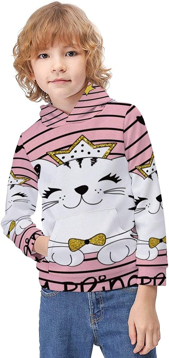 Boys Pullover Hoodies Stretch Hooded Sweatshirt Tops with Kangaroo Pocket Autumn Outfit for Teens