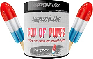 God of Pumpz - Extreme Nitric Oxide Booster Powder - Non Stimulant Pre Workout with Added Nootropics - Glycerol Monosterat...