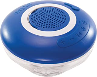 GAME Wireless Speaker and Underwater Light Show Pool light 4308, Battery-Powered Speaker, Color LEDs Sync with Music, Lasts Up to 6 Hours, 1.4 Pounds, Blue