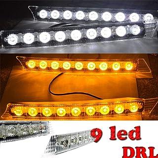 For Audi Style 9 LED Daytime Running Light DRL Fog Lamp Day Lights Daylight Kit 12V