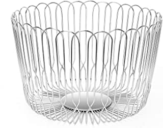 Fruit Basket Bowl Stainless Steel Large Wire Fruit Storage Baske for kitchen Countert with Bread LANEJOY