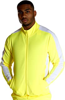 Ankor East Vim Mens Yellow Side Stripe Track Jacket