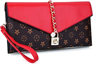 EROUGE Evening Bag Women Oversized Flower Designer Evening Clutch Handbag Wristlet with Lock