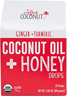 Organic Cough Drops | Coconut Oil and Honey Lozenges, Soothe and Coat The Throat– Ginger & Turmeric
