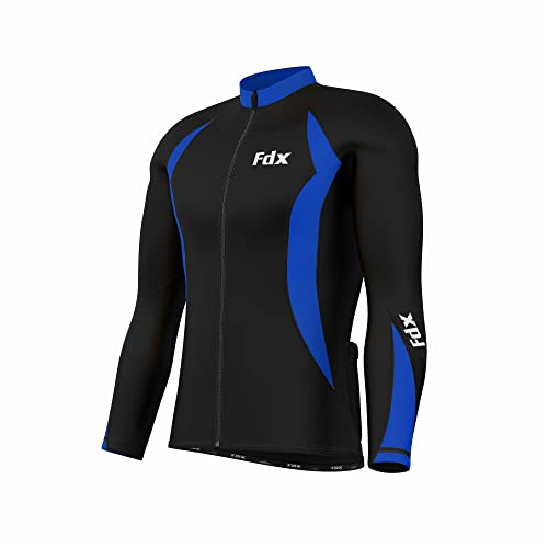 FDX Mens Cycling Jersey Full sleeve Winter Thermal Cold Wear Fleece Top Bike  racing team bc95e41e9