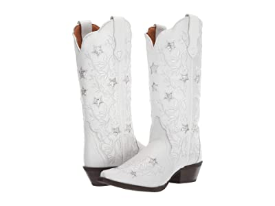 Laredo Lucky Star (White) Cowboy Boots