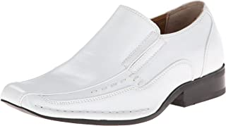 Stacy Adams Templin Bicycle Toe Slip-on Uniform Dress Shoe With Double Elastic Side Gore (Little Kid/Big Kid)