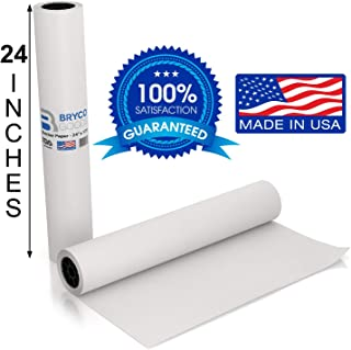 White Kraft Butcher Paper Roll - Long 24 Inch x 175 Feet (2100 Inch) - Food Grade FDA Approved – Great Smoking Wrapping Paper for Meat of All Varieties – Made in USA – Unwaxed & Uncoated