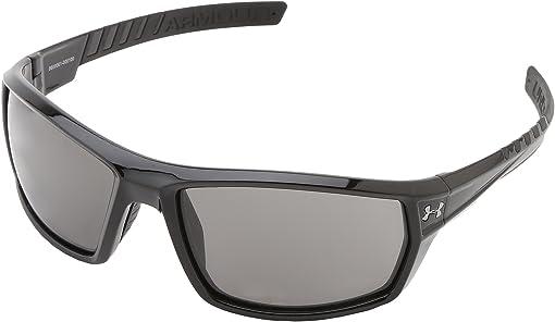 Shiny Black Frame w/ Black Rubber/Gray Lens