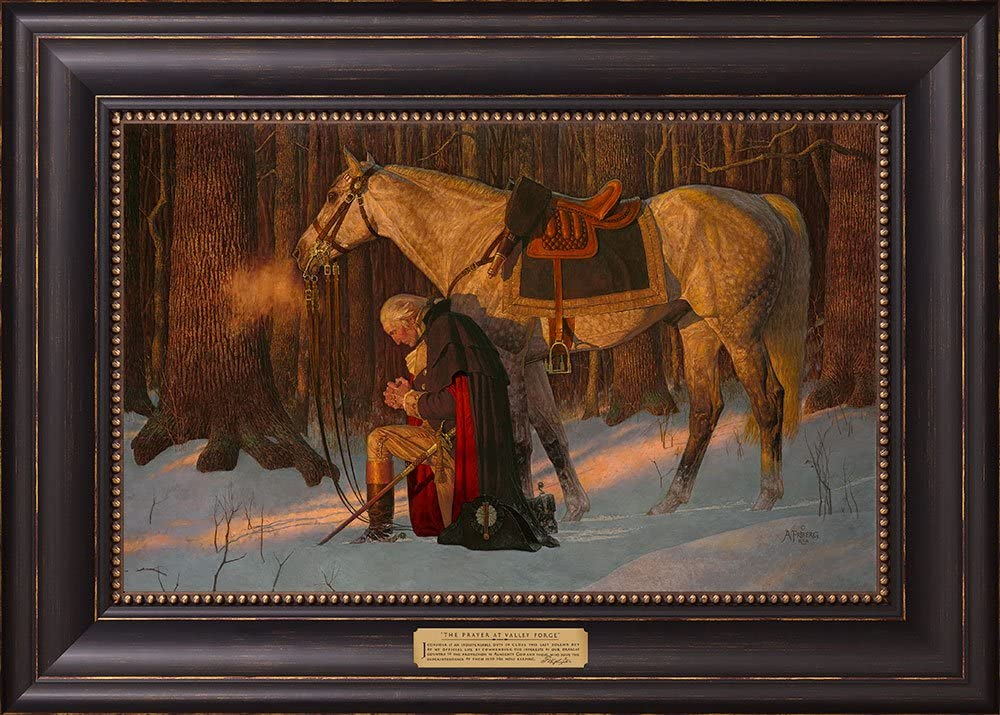 12166 - Prayer at Valley Forge Classic w Textured 2021 g Litho Black 17x24
