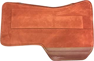 SaddleRight Western Special Deluxe Saddle Pad-Rust with Tan Wear Leather 29