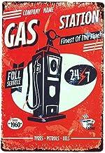 Ndier Vintage Plate Poster Metal Gas Station Pared para cafetería, Bar, Restaurante, Club, casa 20x30cm