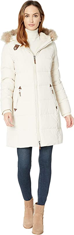 a418f6c879a0 Moda Cream. 75. LAUREN Ralph Lauren. Faux Leather Trim Hooded Down ...