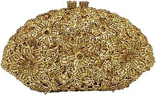Glitzernde Kristall-Handtasche und Geldbörse für Damen, mit Blumendesign, für Abendveranstaltungen, Hochzeit, Party, Diama...