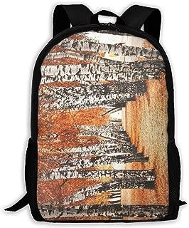 Backpack Fall Birch Tree Zipper School Bookbag Daypack Travel Rucksack Gym Bag For Man Women