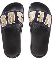 Versus Versace - Footbed Sandal Rubber Sole H.20+Sequins Lettering Velluto