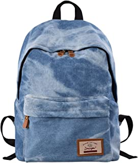 Denim Backpack Lightweight Cute Rucksack Travel College for Teen Girl Women