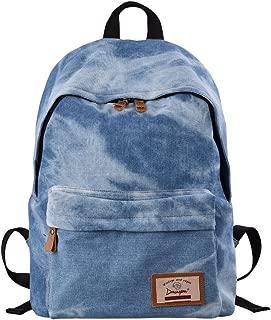 acid wash jean backpack