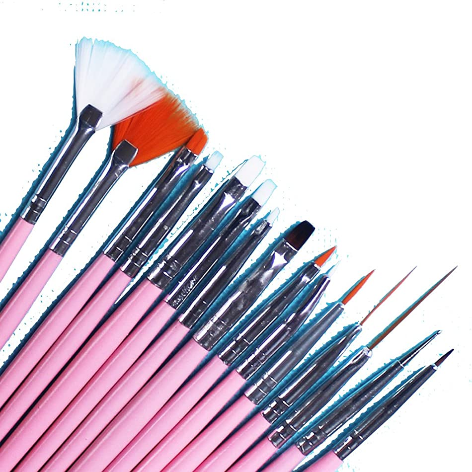 抹消インクベアリングサークルネイルアート 用 筆 ブラシ コンプリートセット 技術 アップ間違いなし (ピンク)