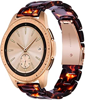 V-MORO Tortoise Strap Compatible with Galaxy Watch 42mm (Active 40mm) Bands Women 20mm Light Resin Bracelet with Stainless Steel Rose Gold Buckle for Samsung Galaxy Watch 42mm/Galaxy Watch Active 40mm