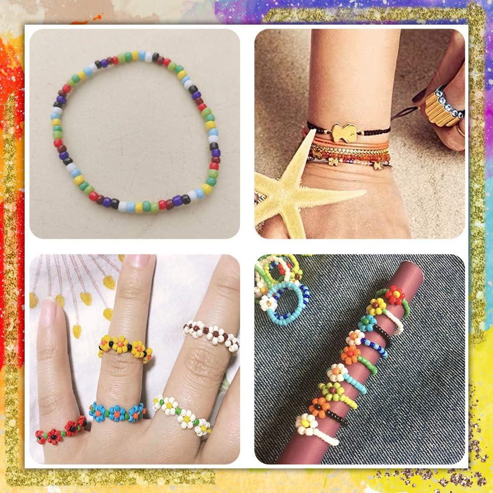 Cadeau danniversaire de Bracelet de Perles damiti/é pour Les Filles de 6 /à 14 Ans Mirabee Kit de Fabrication de Perles de Bracelet pour Enfants Jouets pour 5-12 Ans