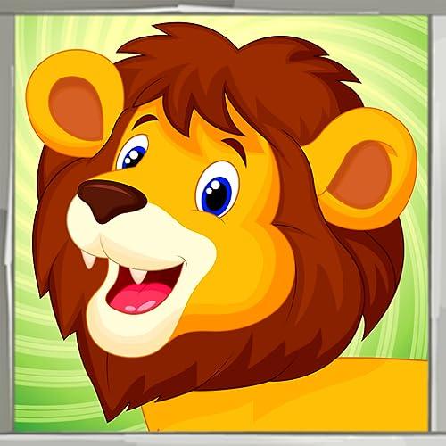 Livro de colorir do leão