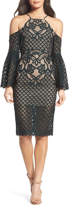 Bardot Womens Lace Open Back Cocktail Dress