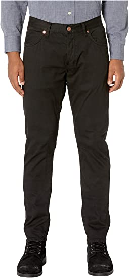 Garment-Dyed Slim Jeans in Black