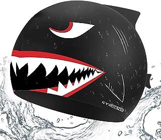 CybGene Silicone Swim Cap for Boys, Girls, Kids, Swimming Cap for Women and Men