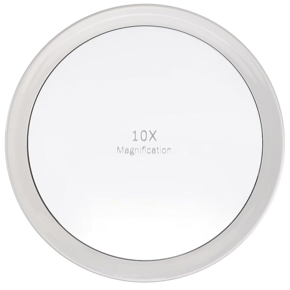 タンカーコマンド意見Miss Sweet 吸盤付きミラー 拡大鏡 化粧鏡 (A: 10倍 19.5cm)